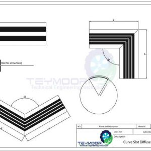 دریچه اسلوت منحنی